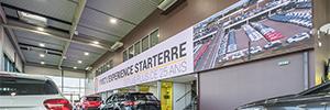 El concesionario Starterre marca la diferencia con un gran videowall Led de Absen