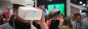 DJI presenta en NAB Show 2017 unas gafas capaces de controlar drones sin manos
