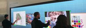 Planar Leyard and convert a large format LED videowall on a multi-touch screen