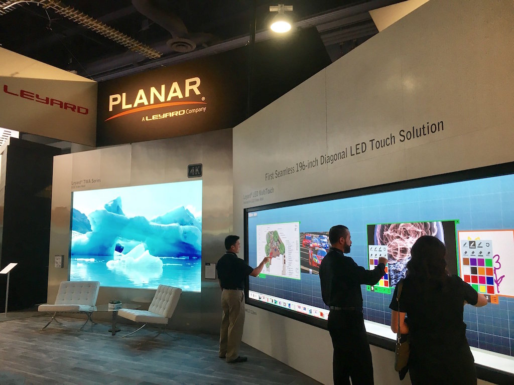 planar leyard and convert a large format led videowall on
