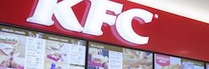 Maler Digital Signage realiza el proyecto de menú digital de KFC en Reino Unido e Irlanda