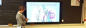 Los centros educativos de Baerum fomentan el aprendizaje interactivo con los monitores de Sony