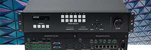 AMX N7142: conmutador de presentación con distribución Networked AV de baja latencia