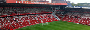 Stadium Sporting Gijon installed a distributed system speakers for great sound