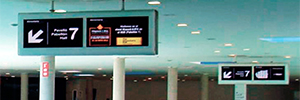 Sono equipa a Fira de Barcelona con cerca de setenta monitores de gran formato