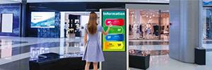 Panasonic AF1-SST: pantallas interactivas multitáctiles para señalética en lugares públicos