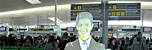 A virtual assistant streamlines access to airport security checks Barcelona-El Prat