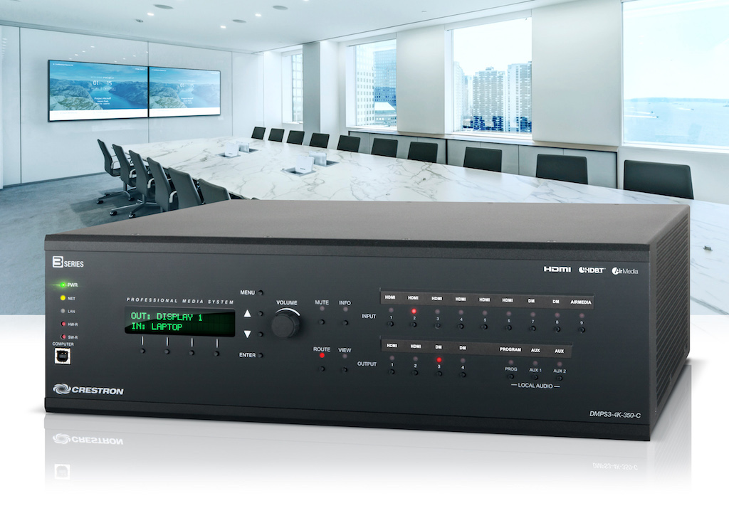 Crestron incorporates wireless technology AirMedia to their 3 Series