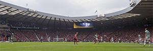 Daktronics instala dos gigantescas pantallas LED en el estadio de Hampden Park