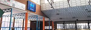 El pabellón El Sargal de Cuenca sustituye su marcador tradicional por una pantalla Led de alta resolución