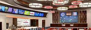 Dos espectaculares pantallas Led atraen a los jugadores a la nueva sala de bingo del Palace Station