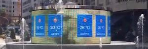 Civis Global culmina el proyecto de Humanización del centro de Vigo con una pantalla Led circular