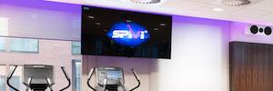 Crestron y Electric String llevan a una nueva dimensión AV el gimnasio corporativo de Ineos