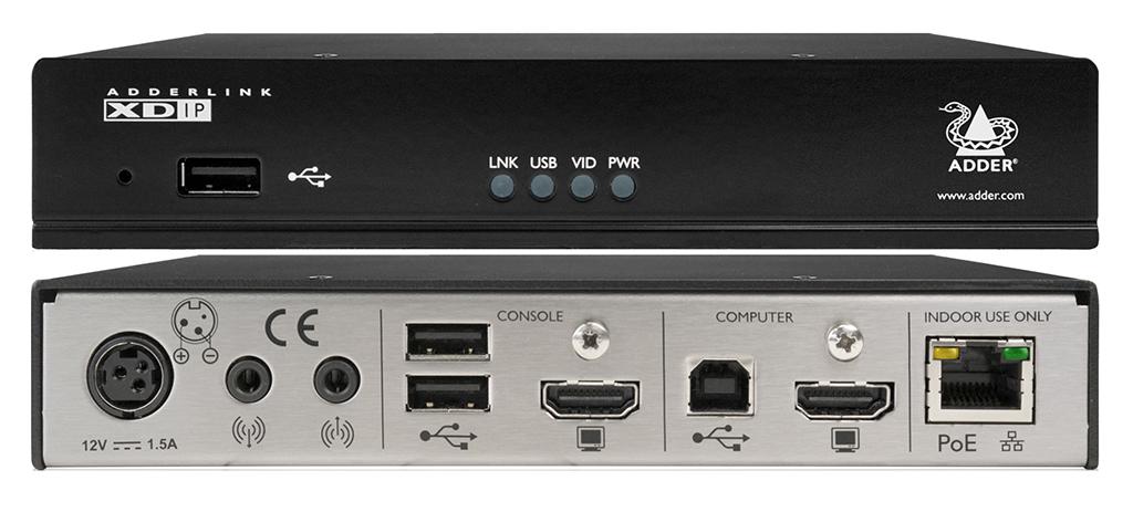 AdderLink XDIP: digital KVM extender over IP that ensures high image