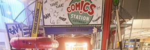 Panasonic proporciona el enfoque interactivo y envolvente que buscaba el parque temático Comics Station Antwerp