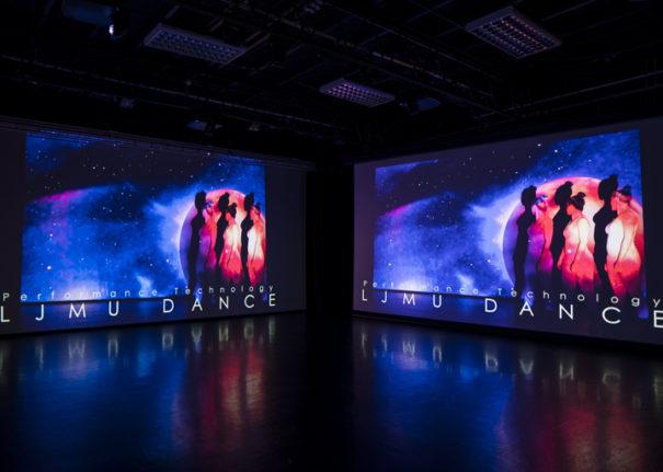 Pure AV Epson theater and dance Liverpool John Moores University