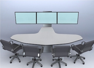 Unicol AV furniture Rhombus huddle