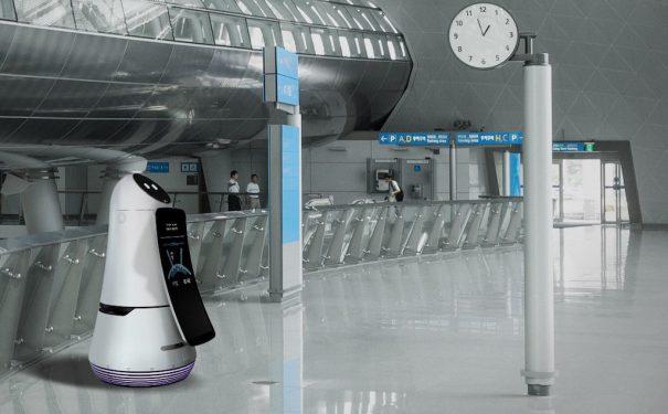 LG troika robot aeropuerto de incheon