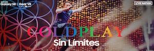 Samsung y Live Nation retransmiten hoy en realidad virtual y en directo un concierto de Coldplay