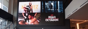UFC communicates your brand image on a large screen of NanoLumens Led Engage