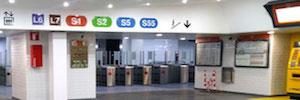 Vitelsa realiza el proyecto de cartelería digital de la estación de Plaza Cataluña para FGC
