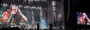 Audiovisual Flüge makes the mounting of lighting for concerts by Aerosmith in Spain
