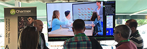 Charmex shows the new concept of collaborative solutions rooms with Sharp and Polycom
