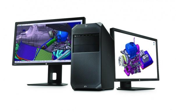 HP Z4 con Z24x displays