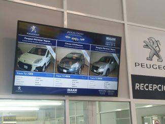 Innova carteleria digital MAAM-Peugeot
