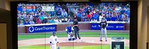 El equipo de béisbol Miami Marlins recibe a los medios con un gran videowall de Samsung