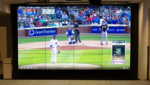 Intermedia Touch videowall Miami Marlins