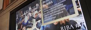 Las pantallas 4K de Panasonic ayudan al Riba a crear exclusivos espacios para sus eventos