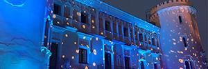 El Castillo de Viñuelas iluminó su fachada para el evento de una empresa farmacéutica