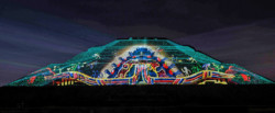 Christie y Cocolab videomapping en Teotihuacan