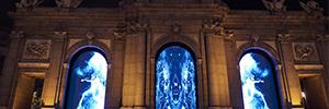 Luz, sonido y creatividad llenaron el eje Prado-Retiro para celebrar Luna de Octubre