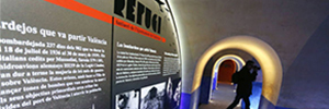 Vitelsa implements the exhibition equipment, lighting and security Refugio Civil Museum