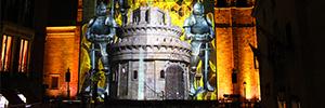 La catedral de Ávila rememora la historia de la ciudad con un espectáculo de luz y sonido