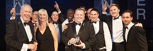 B-Tech AV Mounts wins the award for Manufacturer of the Year in delivering the AV Awards in London