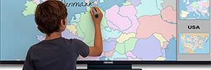 I3 Technologies fomenta la interactividad en el aula con su línea de visualización táctil