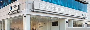 BMW Ibérica training equips its rooms with audiovisual equipment