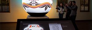 'Exploring Pueblo Pottery': innovador mapping que hace renacer la cultura alfarera del pueblo de los Acomas