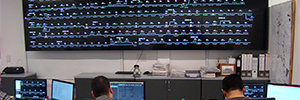 The LG videowall help manage rail traffic in Argentina