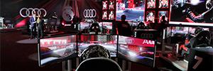 Los jugadores del Real Madrid participan en una carrera virtual de Fórmula E