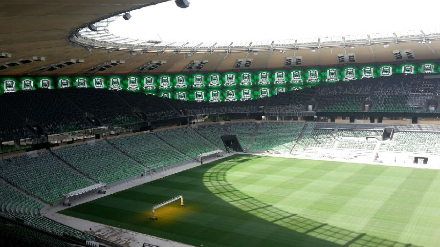 Led display 360 of unilumin to the pitch of the stadium krasnodar krasnodar unilumin stadium thecheapjerseys Images