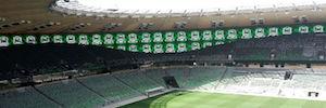 Visualización Led 360º de Unilumin para el terreno de juego del estadio Krasnodar