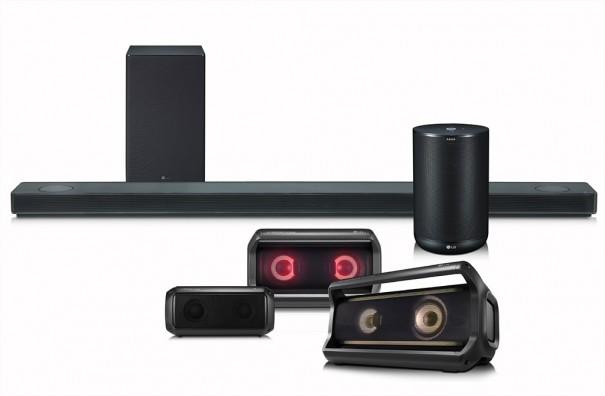 LG CES 2018 gama de altavoces