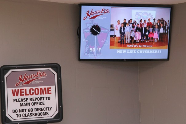 Mvix digital signage Life Christian School
