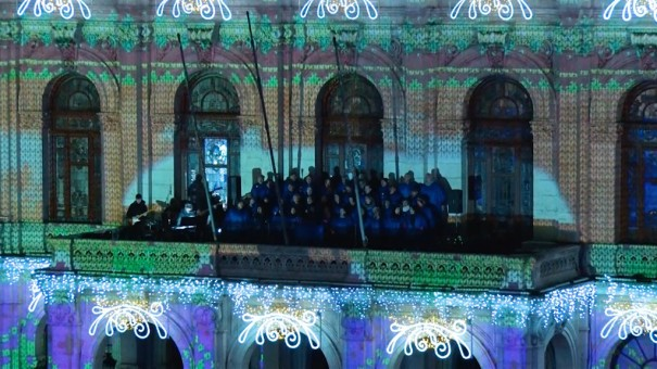 Xtrañas videomapping Navidad 2017 en Ayuntamiento Valladolid