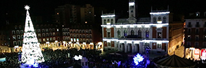 Videomapping opens a Christmas in the city of Valladolid
