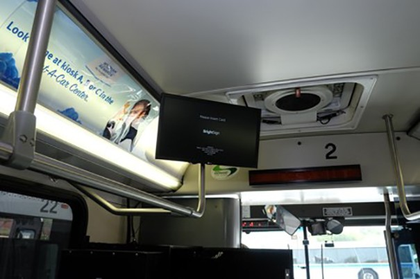 BrightSign aeropuerto McCarran autobuses